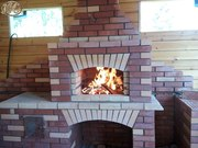 Строительство печи,  камина  из кирпича по вашему проекту или рисунку.