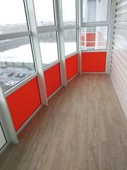 Внутренняя отделка балконов,  лоджий Красноярска.